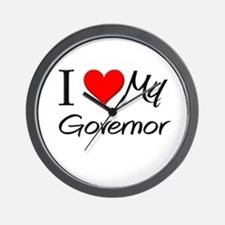 I Heart My Governor Wall Clock