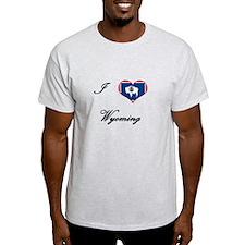 I Love (Heart) Wyoming T-Shirt
