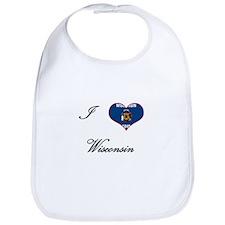 I Love (Heart) Wisconsin Bib