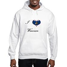 I Love (Heart) Wisconsin Hoodie