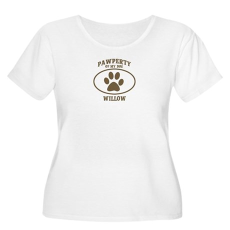 Pawperty of WILLOW Women's Plus Size Scoop Neck T-