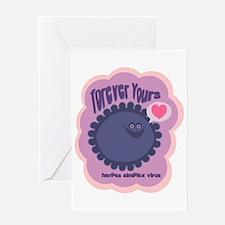 Herpes Valentines Greeting Card