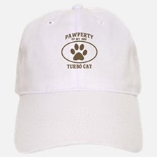 Pawperty of TURBO CAT Baseball Baseball Cap
