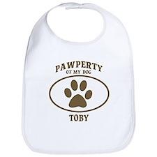 Pawperty of TOBY Bib