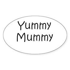 Yummy Mummy Oval Decal