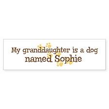 Granddaughter named Sophie Bumper Bumper Sticker