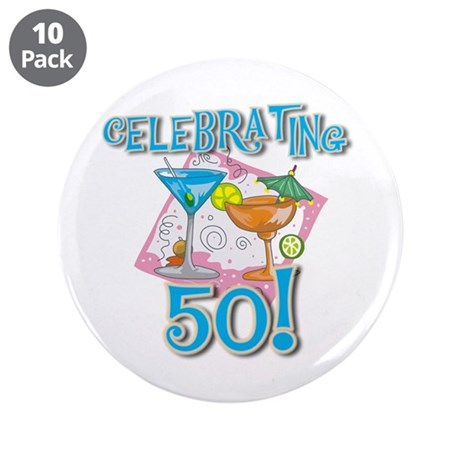 """Celebrating 50 3.5"""" Button (10 pack)"""