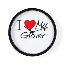 I Heart My Glover Wall Clock