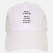 The Rules Baseball Baseball Cap