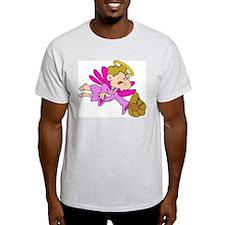 Baseball Angel Ash Grey T-Shirt