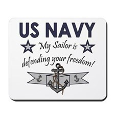 NAVY Sailor defending freedom Mousepad