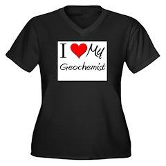 I Heart My Geochemist Women's Plus Size V-Neck Dar