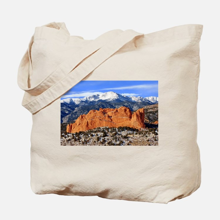 Pikes Peak, Kissing Camels Tote Bag