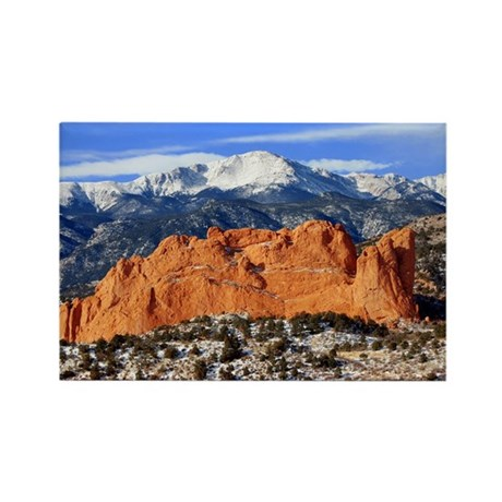 Pikes Peak, Kissing Camels Rectangle Magnet (10 pa