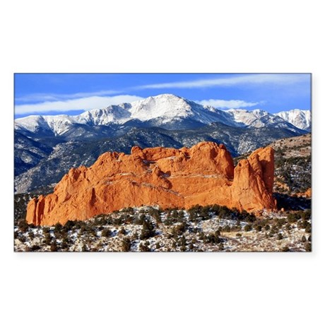 Pikes Peak, Kissing Camels Rectangle Sticker