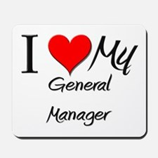 I Heart My General Manager Mousepad