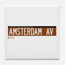 Amsterdam Avenue in NY Tile Coaster