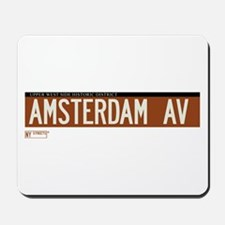 Amsterdam Avenue in NY Mousepad