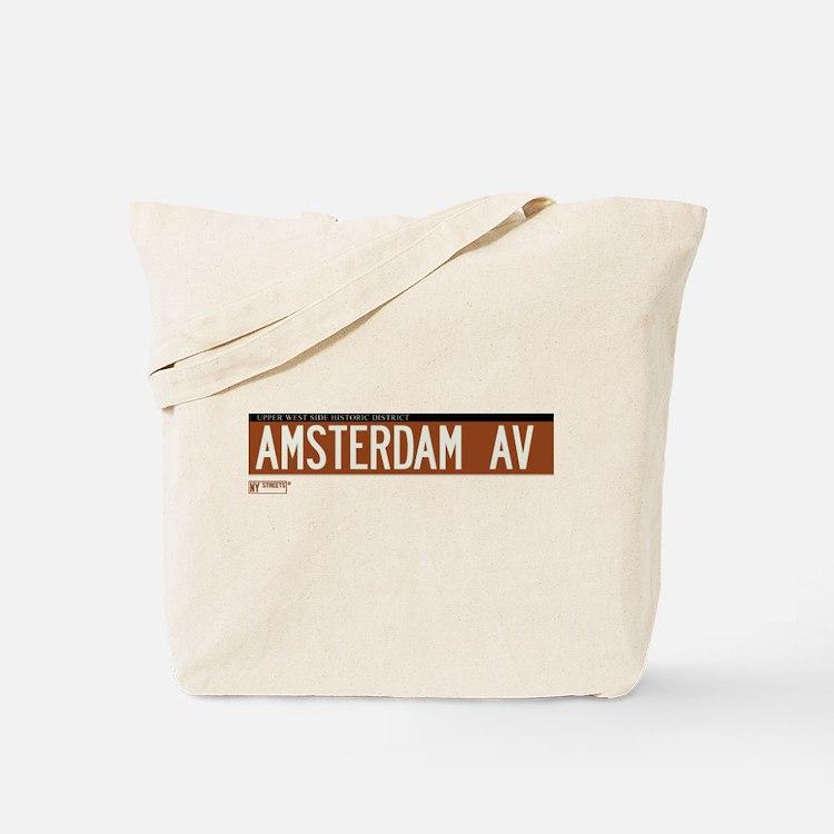 Amsterdam Avenue in NY Tote Bag