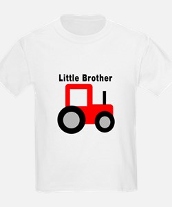 Little Brother Red Tractor T-Shirt