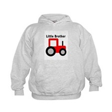 Little Brother Red Tractor Hoodie