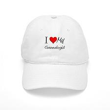 I Heart My Genealogist Baseball Cap