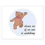 Dancing Bear Small Poster
