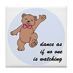 Dancing Bear Tile Coaster