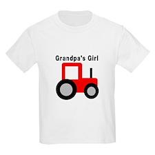 Grandpa's Girl Red Tractor T-Shirt