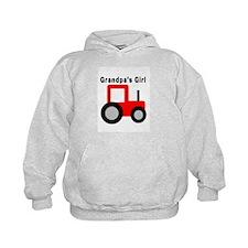 Grandpa's Girl Red Tractor Hoodie