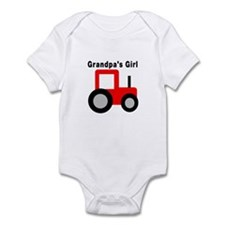 Grandpa's Girl Red Tractor Infant Bodysuit