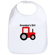 Grandpa's Girl Red Tractor Bib