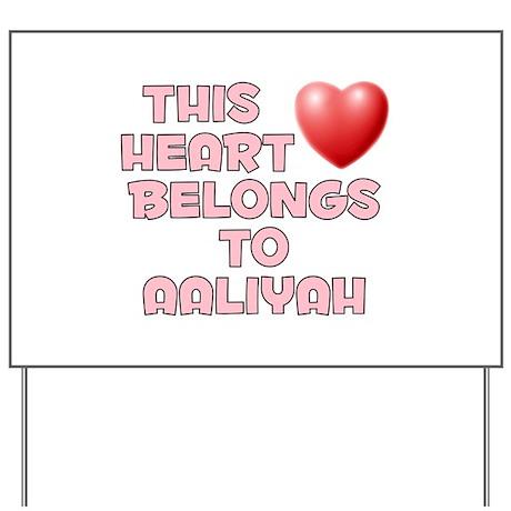 This Heart: Aaliyah (F) Yard Sign