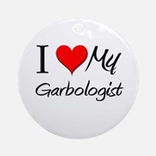 I Heart My Garbologist Ornament (Round)