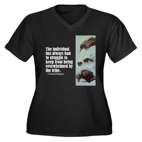 "Nietzsche ""The Individual"" Women's Plus Size V-Nec"