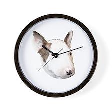 Bull Terrier Puppy Wall Clock