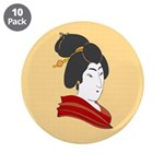 "Japanese Geisha Artwork 3.5"" Button (10 pack)"