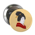 "Japanese Geisha Artwork 2.25"" Button"