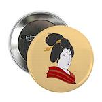 "Japanese Geisha Artwork 2.25"" Button (10 pack)"