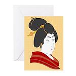 Japanese Geisha Artwork Greeting Cards (Pk of 10)