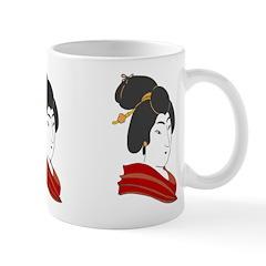 Japanese Geisha Artwork Ceramic Coffee Mug