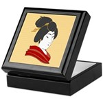Japanese Geisha Artwork Keepsake Box