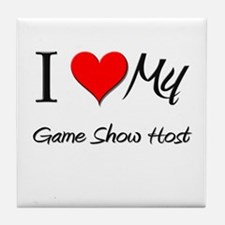 I Heart My Game Show Host Tile Coaster