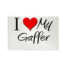 I Heart My Gaffer Rectangle Magnet