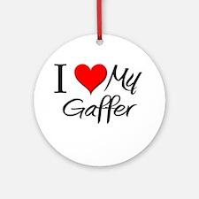 I Heart My Gaffer Ornament (Round)
