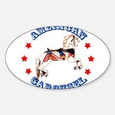 Carousel Horse Oval Decal
