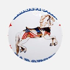 Carousel Horse Ornament (Round)