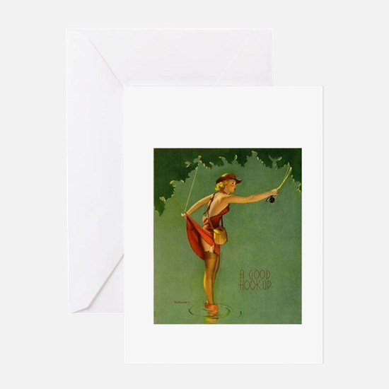 Vintage Fly Fishing Greeting Card