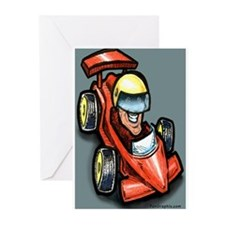 Unique Go kart racing Greeting Cards (Pk of 10)