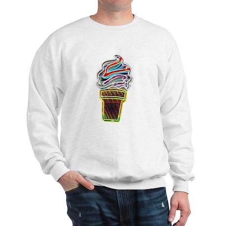 Neon Swirl Ice Cream Cone Sweatshirt